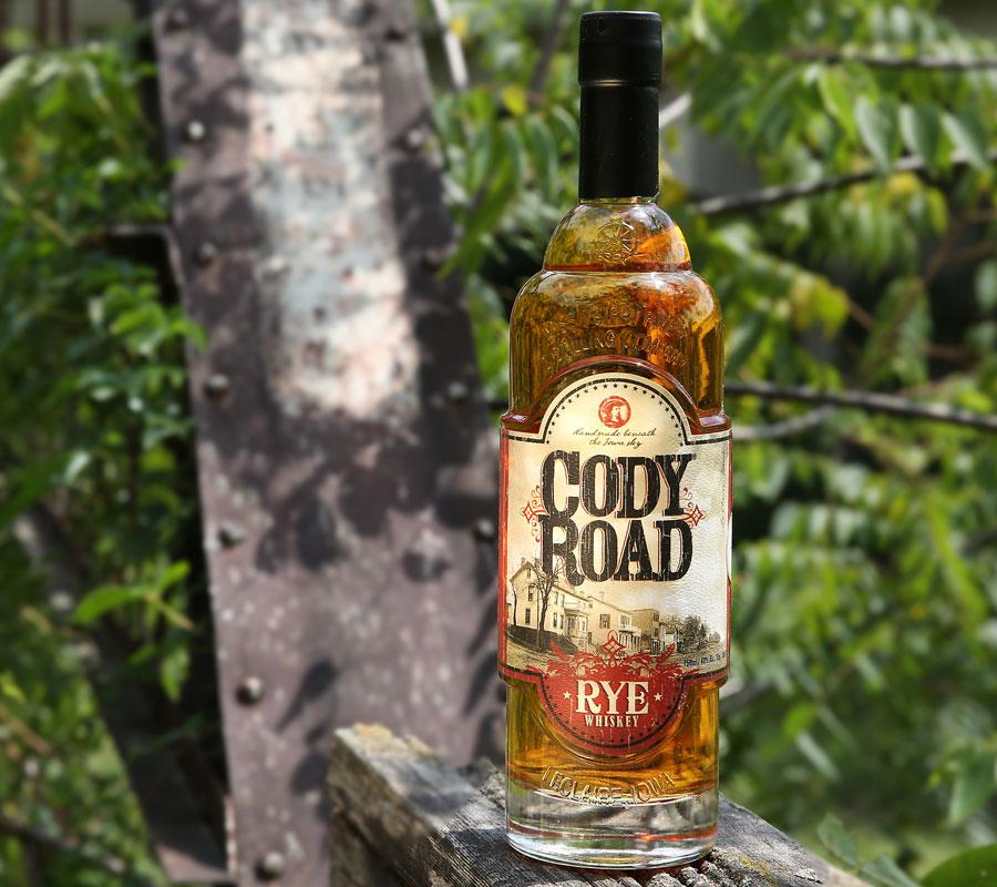 Cody Road Rye Whiskey bottle