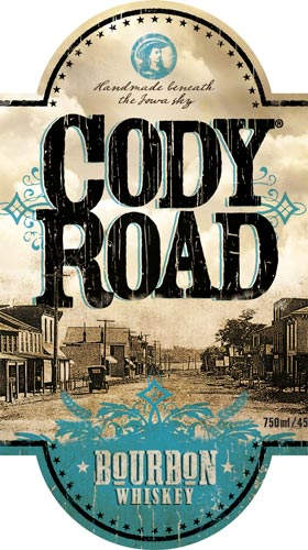Cody Road Bourbon Whiskey label