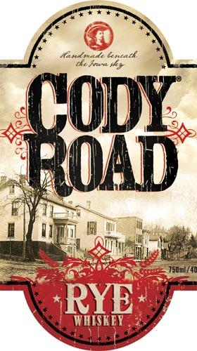 Cody Road Rye Whiskey label