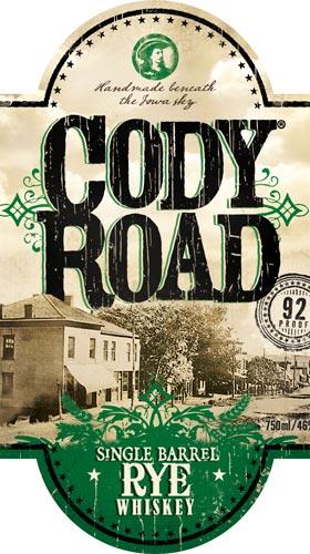 Cody Road Single Barrel Rye label