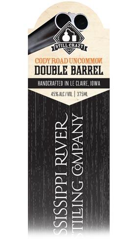 Cody Road Uncommon Double Barrel Whiskey label