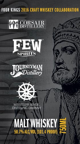 Four Kings Whiskey Collaboration label