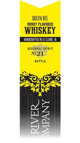 Queen Bee Honey Whiskey label