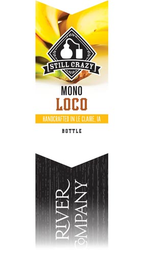 Mono Loco Banana Flavored Rye Whiskey label