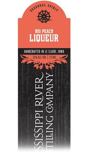 Big Peach Liqueur label