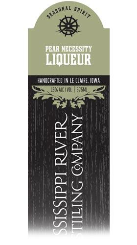 Pear Necessity Liqueur label