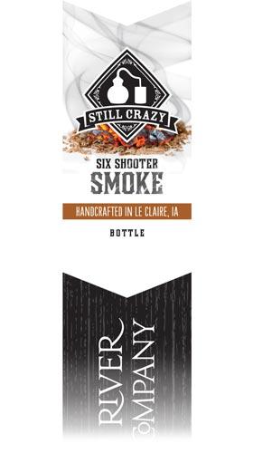 Six Shooter Smoke Whiskey label