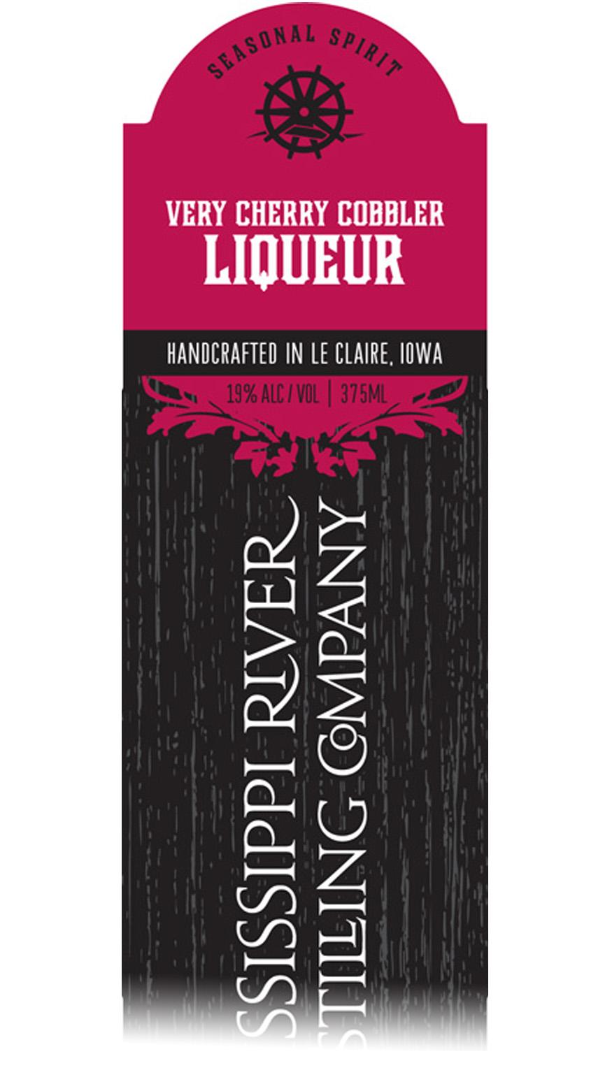 Very Cherry Cobbler Liqueur label