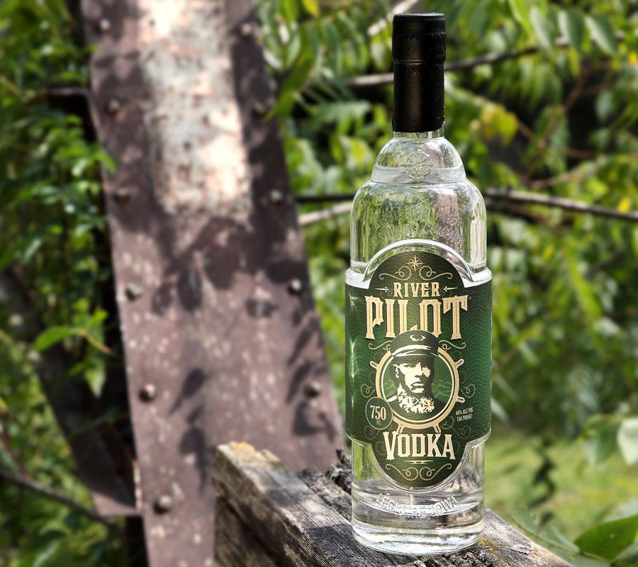River Pilot Vodka bottle