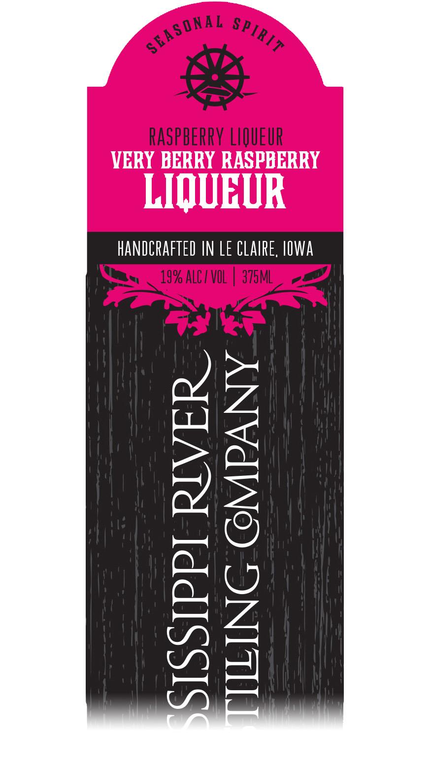 Very Berry Raspberry Liqueur label