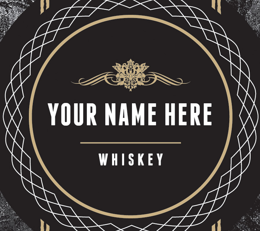 Your Name Here Whiskey Label