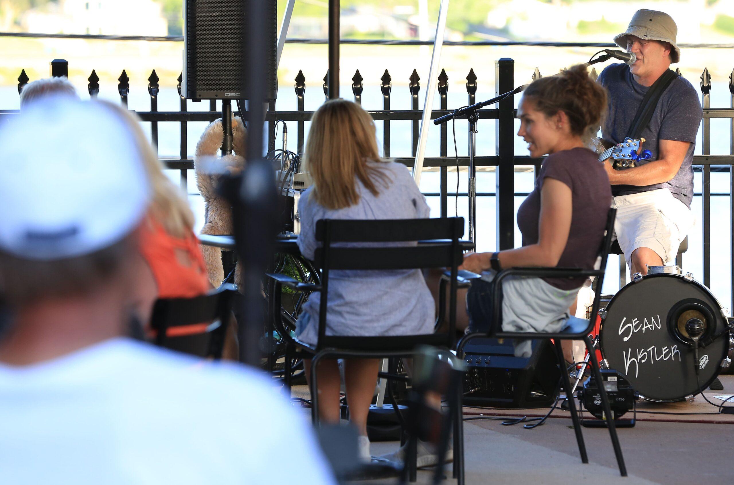 Outdoor music on patio
