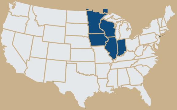 MRDC Distributor Map